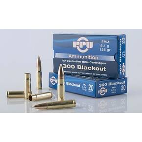 PPU Standard Rifle Ammunition .300 AAC Blackout 125 gr HPBT 2198 fps 20/ct