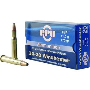 PPU Rifle Ammunition .30-30 Win 170 gr SP 2390 fps 20/ct