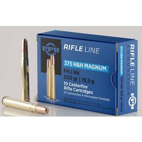 PPU Rifle Ammunition .375 H&H Magnum 300 gr SPRN 2530 fps 10/ct