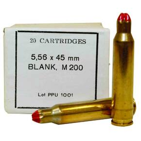 PPU Blank Rifle Ammunition 5.56mm X 45 M-200 Blank