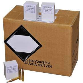 PPU Rifle Ammunition 5.56mm 62 gr FMJ-BT 3050 fps 1000ct