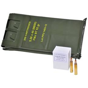 PPU Rifle Ammunition 5.56 M855 62GR GRNTP 200PK