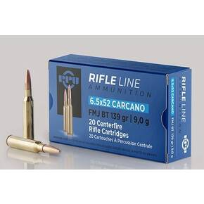 PPU Rifle Ammunition 6.5mm x 52 Carcano 139 gr FMJ-BT 2525 fps 20/ct