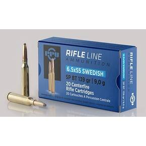 PPU Rifle Ammunition 6.5x55mm Swedish 139 gr SP 2540 fps - 20/ct