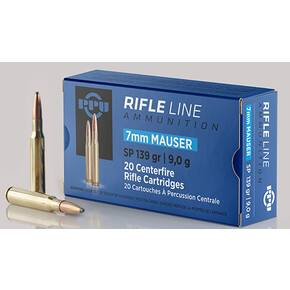 PPU Rifle Ammunition 7mm Mauser 139 gr SP 2660 fps - 20/ct