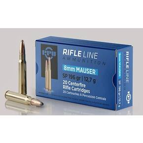 PPU Rifle Ammunition 8mm Mauser 198 gr SP 2425 fps 20/ct