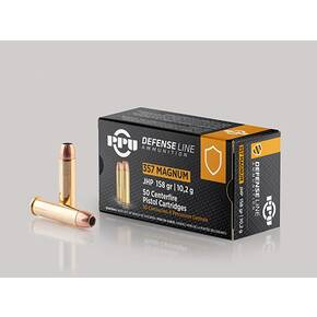 PPU Handgun Defense Ammunition .357 Magnum JHP 158gr 1607 fps 50/ct