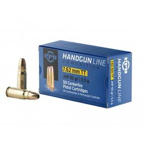 PPU Handgun Ammunition 7.62mm Tokarev 85 gr JHP 1675 fps 50/ct
