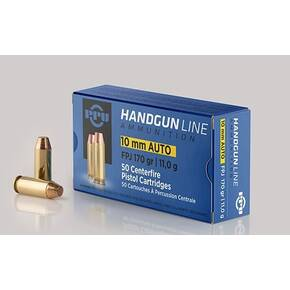 PPU Handgun Ammunition 10mm Auto 170 gr FPJ 1115 fps 50/ct