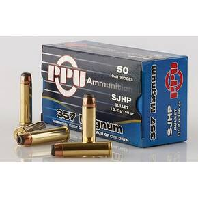 PPU Handgun Ammunition .357 Mag  SJHP 1607 fps 50/ct