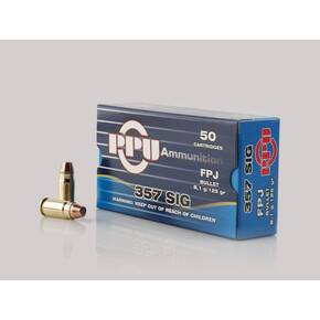 PPU Handgun Ammunition  .357 SIG 125gr FPJ 1542 fps 50/ct