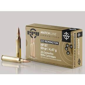 PPU Match Ammunition .223 Rem Match 69 gr HPBT 2855 fps 20/ct