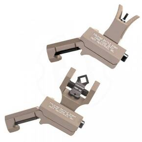 Troy 45-Degree Offset Sight Set - SSIG-45S-MDFT-00 - M4 Front & Dioptic Rear - Flat Dark Earth