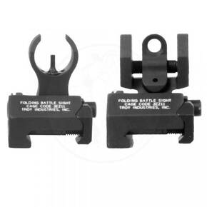 Troy Micro Set Sights for H&K Front & Round Rear - Black