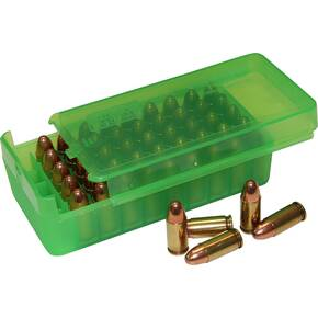 MTM Side Slide Handgun Ammo Box - 45 ACP Clear Green