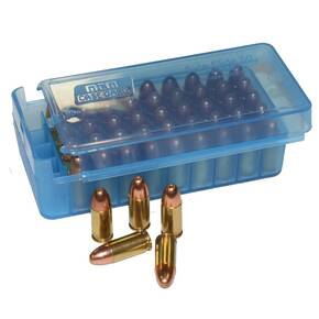 MTM Side Slide Handgun Ammo Box - 45 ACP Clear Blue