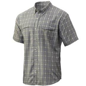 Huk Tide Point Fish Plaid SS Lichen Mens XL