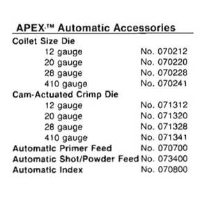 Hornady Apex Automatic Shot/Powder Drops, Pr.