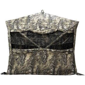 BOGgear Grave Digger 4-Hub Ground Blind with 360 Curtain Windows - Realtree Escape