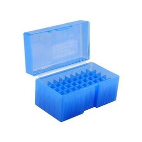 Frankford Arsenal #509 Plastic Ammo Box .243 .308 cal & More 50/rd Blue