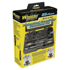 Wheeler Engineering 89-Piece Professional Gunsmithing Screwdriver Set