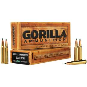 Gorilla Match Rifle Ammunition .223 Rem 55 gr Blitz 2985 fps 20/ct
