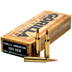 Gorilla Match Rifle Ammunition .223 Rem 69 gr Blitz 3050 fps 20/ct