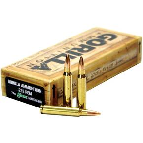 Gorilla Match Rifle Ammunition .223 Rem 77 gr OTM 2540 fps 20/ct