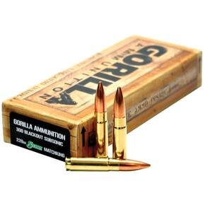 Gorilla Match Rifle Ammunition .300 AAC Blackout 220 gr OTM 1030 fps 20/ct