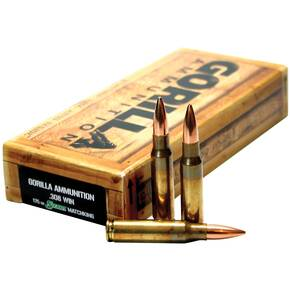Gorilla Match Rifle Ammunition .308 Win 175 gr OTM 2680 fps 20/ct