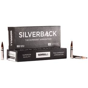 Gorilla Silverback Rifle Ammunition .300 AAC Blackout 85 gr SCHP 2550 fps 20/ct