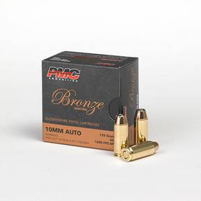 PMC Bronze Handgun Ammunition 10mm Auto 170 gr JHP 1200 fps 25/box