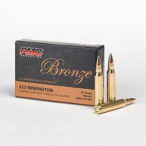 PMC Bronze Rifle Ammunition .223 Rem 55 gr FMJ 2900 fps - 20/box