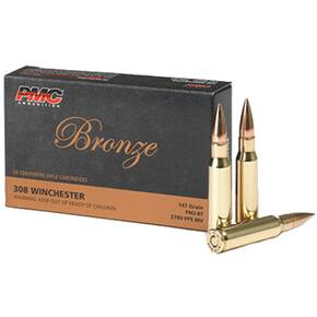 PMC Bronze Rifle Ammunition .308 Win 147 gr FMJBT 2780 fps - 20/box
