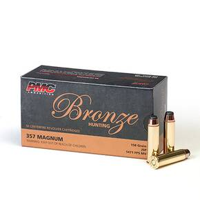 PMC Bronze Handgun Ammunition .357 Mag 158 gr JSP 1471 fps 50/box