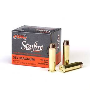 PMC Gold Starfire Ammunition .357 Mag 150 gr SFHP 1350 fps 20/box
