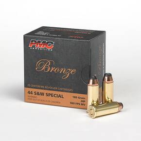 PMC Bronze Handgun Ammunition .44 Spl 180 gr JHP 980 fps 25/box
