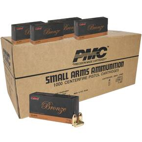 PMC Bronze .45 ACP Handgun Ammunition 230 gr FMJ 830 fps 1000/ct