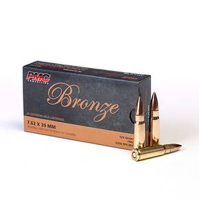 PMC Bronze Rifle Ammunition 7.62x39mm 123 gr FMJ 2350 fps - 20/box