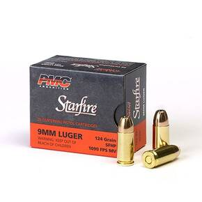 PMC Gold Starfire Ammunition 9mm Luger 124 gr SFHP 1090 fps 20/box