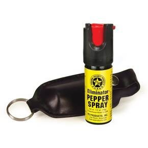 Eliminator 1/2 oz Pepper Spray w Black Soft Case & Key Ring