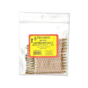 Pro-Shot Benchrest Phosphorus Bronze Rifle Cleaning Brushes (8/32 Thread) - .22 cal Centerfire 12/pk