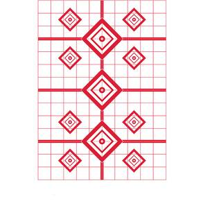 "Pro-Shot 200 Yard Rifle Sight in Target 23"" X 35"" -5/ct  (Red)"