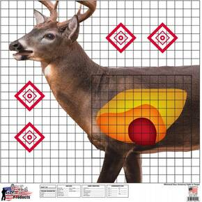 "Pro-Shot Whitetail Deer Sight In Target 25"" X 25"" -5/ct"