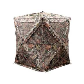 Primos The Club XL Hub Style Blind with DurMatte HD Fabric and Brush Deception Holders 73 in. Height - Mossy Oak Break-up Country
