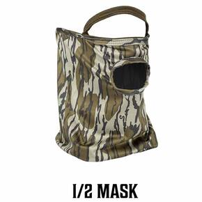 Primos Stretch Fit Mask - Mossy Oak Bottomland 1/2 Face