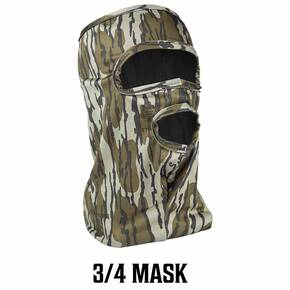 Primos Stretch Fit Mask - Mossy Oak Bottomland 3/4 Face