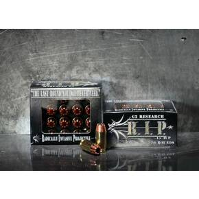 G2 Research R.I.P. Handgun Ammunition .45 ACP 162 gr HP 1020 fps 20/box
