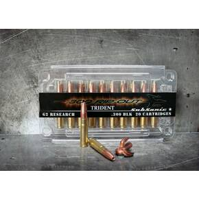 G2 Research Trident Rifle Ammunition .300 AAC Blackout 200 gr 1020 gr 20