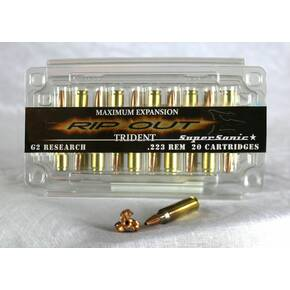 G2 Research Trident Rifle Ammunition .223 Rem 65 gr  2840 fps 20/box